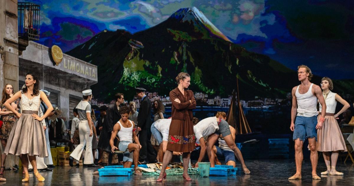 Stephanie Chen Gundorph og Jón Axel Fransson i 'Napoli'. Foto: Henrik Stenberg.